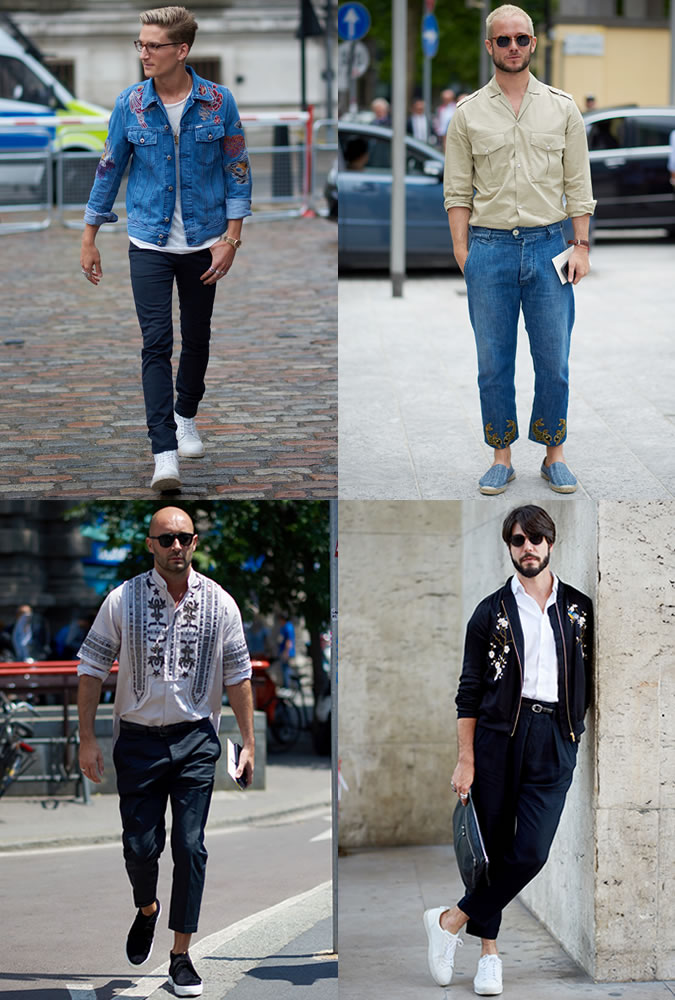 Men's Fashion Week Street Trends - Embroidery