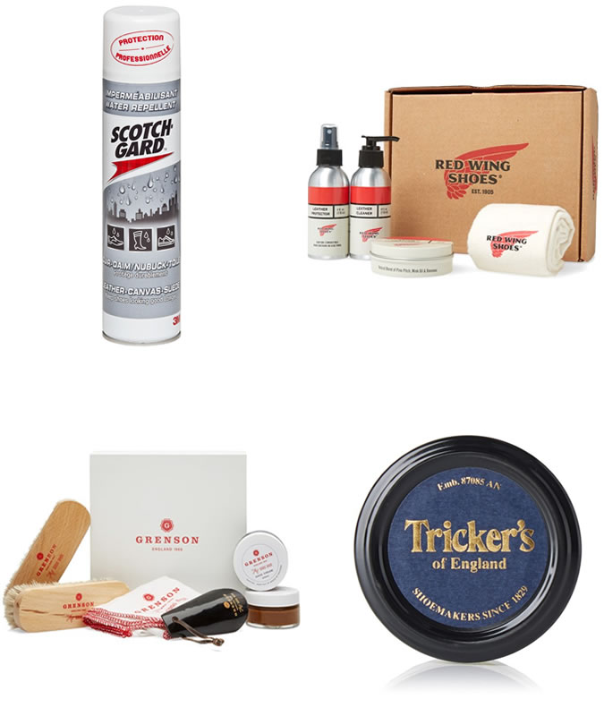 Men's Leather and Suede Shoe Care Protection Products