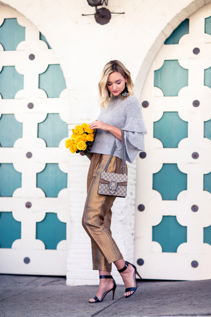 Photo: Late Afternoon http://www.lateafternoonblog.com/2016/10/endless_rose_sweater_gold_zara_pants.html
