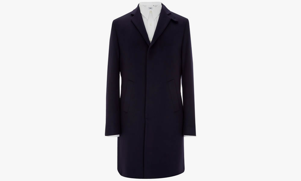 MR. START Drysdale Wool & Cashmere Coat Navy