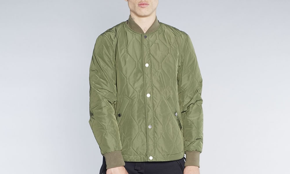 Christopher Ræburn Olive Quilted Snap Jacket