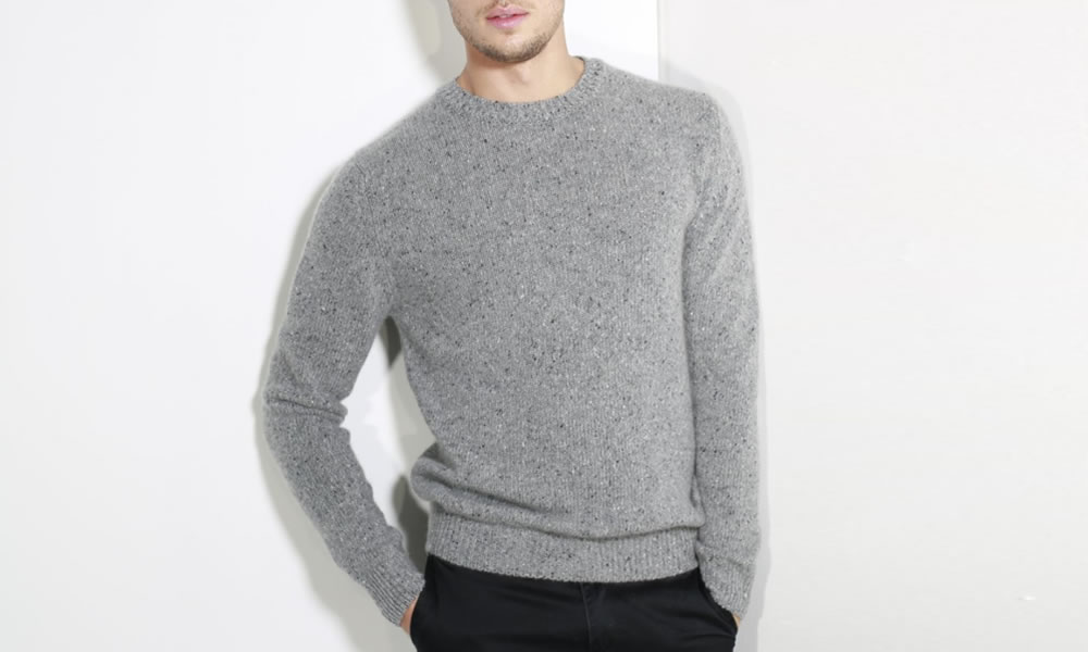 Johnstons of Elgin Cashmere Donegal Sweater