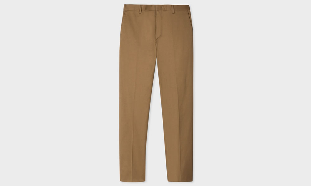 Paul Smith Slim-Fit Taupe Twill Trousers